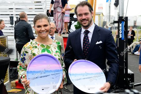 Stock Picture of Crown Princess Victoria and Prince Felix of Luxembourg attend the inauguration of the new water plant in Morbylanga, Oland, Sweden