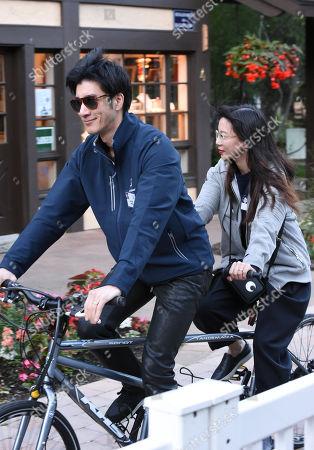 Leehom Wang and Lee Jinglei