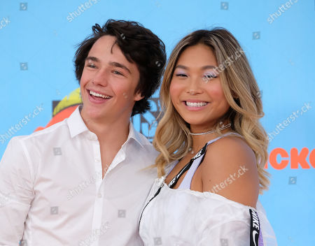 Chloe Kim and Toby Miller