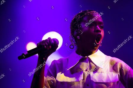 Lauryn Hill performs on the stage of the Auditorium Stravinski during the 53rd Montreux Jazz Festival (MJF), in Montreux, Switzerland, Friday, July 12, 2019. The MJF runs from June 28 to July 13 and features 450 concerts.