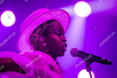 Lauryn Hill performs on the stage of the Auditorium Stravinski during the 53rd Montreux Jazz Festival (MJF), in Montreux, Switzerland, 12 July 2019. The MJF runs from June 28 to July 13 and features 450 concerts.