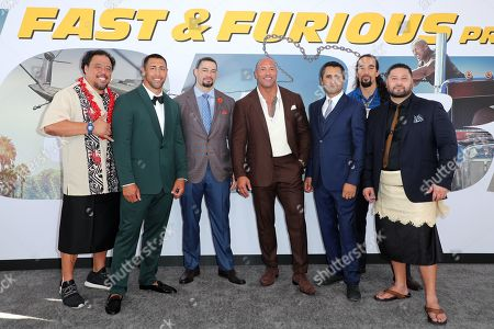 Kelemete Misipeka, Josh Mauga, Joe Anoa'i, Dwayne Johnson, Cliff Curtis, Westley LeClay and John Tui