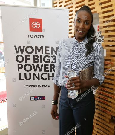 Basketball Legend and Triplets Head Coach Lisa Leslie was honored at the Women of Big3 Power Lunch presented by Toyota on in New York