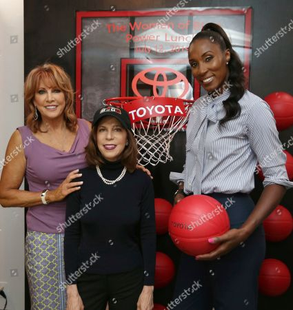 Triplets Head Coach Lisa Leslie, Power Head Coach Nancy Lieberman and Big3 Chairman of the Board Amy Trask were honored at the Women of Big3 Power Lunch presented by Toyota on in New York