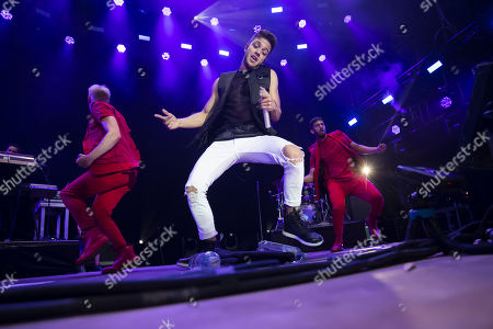 Stock Image of Luca Haenni performs during the Moon and Stars festival in Locarno, Switzerland, 12 July 2019.