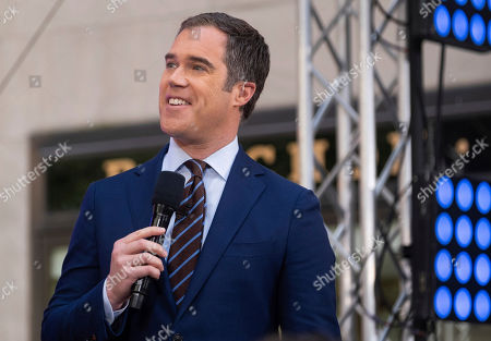Stock Image of Peter Alexander appears on NBC's Today show at Rockefeller Plaza, in New York