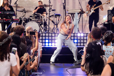 Maggie Rogers performs on NBC's Today show at Rockefeller Plaza, in New York