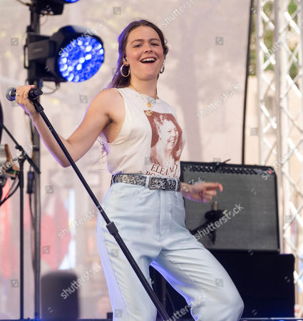 Stock Picture of Maggie Rogers performs on NBC's Today show at Rockefeller Plaza, in New York