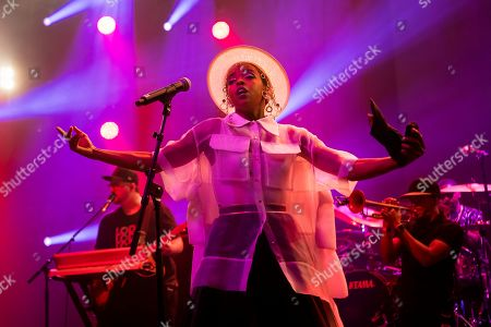 Stock Image of U.S. singer Lauryn Hill performs on the stage of the Auditorium Stravinski during the 53rd Montreux Jazz Festival (MJF), in Montreux, Switzerland, . The MJF runs from June 28 to July 13