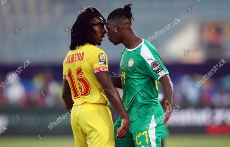 Stock Photo of Lamine Gassama of Senegal argues with Sessi Dalmeida of Benin