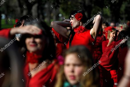 Editorial picture of The Most Wuthering Heights Day Ever flash mob, Melbourne, Australia - 13 Jul 2019
