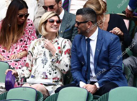 Jodie Whittaker and Christian Contreras in the Royal Box on Centre Court