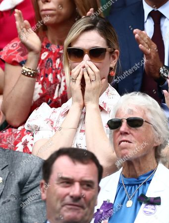 Lily James in the Royal Box on Centre Court