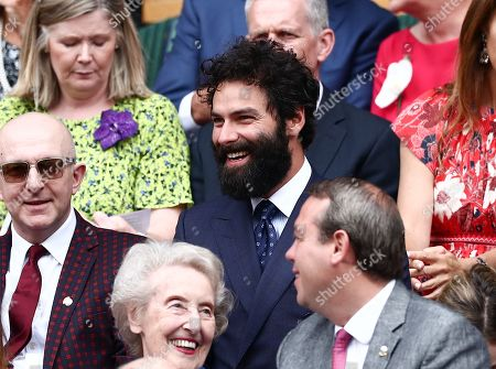 Aidan Turner in the Royal Box on Centre Court