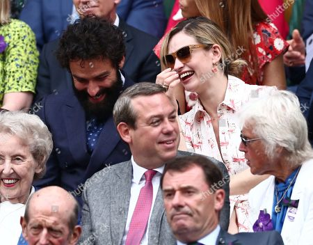 Stock Picture of Aidan Turner and Lily James in the Royal Box on Centre Cour