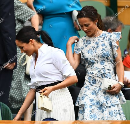 Meghan Duchess of Sussex and Pippa Middleton in the Royal Box on Centre Court