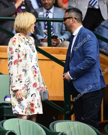 Stock Picture of Jodie Whittaker and Christian Contreras in the Royal Box on Centre Court