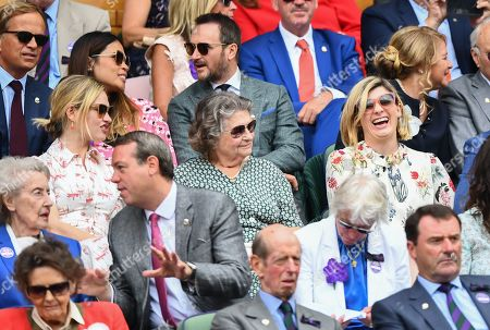 Lily James and Jodie Whittaker in the Royal Box on Centre Court