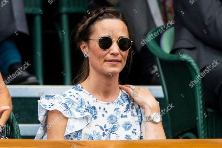 Pippa Middleton in the Royal Box on Centre Court