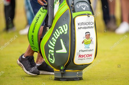 The bag of Kiradech Aphibarnrat (THA) during the third round of the Aberdeen Standard Investments Scottish Open at The Renaissance Club, North Berwick