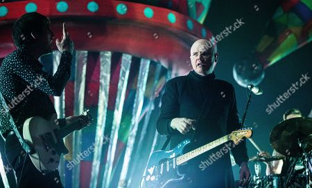 Stock Image of The Smashing Pumpkins - Jeff Schroeder and Billy Corgan
