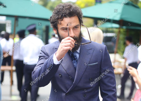 Polldark Star Aidan Turner arrives at Wimbledon on Ladies Finals day