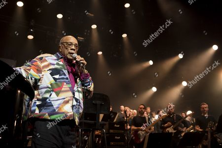 US music producer Quincy Jones speaks during the Quincy Jones soundtrack of the 80s celebration evening at the Auditorium Stravinski during the 53rd Montreux Jazz Festival (MJF), in Montreux, Switzerland, 13 July 2019. The MJF runs from June 28 to July 13 and features 450 concerts.