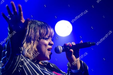 Singer Vula Malinga performs during the Quincy Jones soundtrack of the 80's celebration evening at the Auditorium Stravinski during the 53rd Montreux Jazz Festival (MJF), in Montreux, Switzerland, 13 July 2019. The MJF runs from June 28 to July 13 and features 450 concerts.