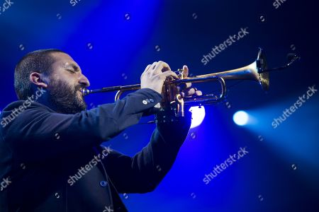 French-Lebanese trumpet player Ibrahim Maalouf performs during the Quincy Jones soundtrack of the 80's celebration evening at the Auditorium Stravinski during the 53rd Montreux Jazz Festival (MJF), in Montreux, Switzerland, 13 July 2019. The MJF runs from June 28 to July 13 and features 450 concerts.