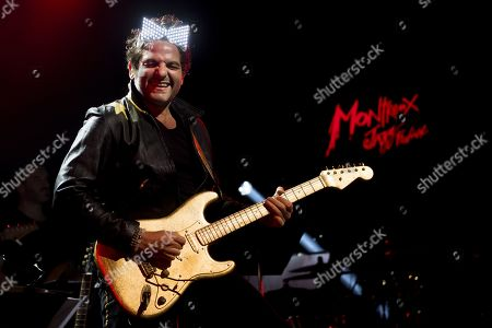 Matthieu Chedid, alias M performs during the Quincy Jones soundtrack of the 80's celebration evening at the Auditorium Stravinski during the 53rd Montreux Jazz Festival (MJF), in Montreux, Switzerland, 13 July 2019. The MJF runs from June 28 to July 13 and features 450 concerts.