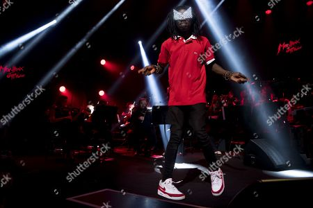 Dancer Salif Lasource performs during the Quincy Jones soundtrack of the 80's celebration evening at the Auditorium Stravinski during the 53rd Montreux Jazz Festival (MJF), in Montreux, Switzerland, 13 July 2019. The MJF runs from June 28 to July 13 and features 450 concerts.