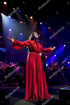Stock Photo of Lauren Jauregui performs at the 'Quincy Jones soundtrack of the 80's' celebration evening at the Auditorium Stravinski during the 53rd Montreux Jazz Festival, in Montreux, Switzerland, 13 July 2019. The event running from 28 June to 13 July will feature about 450 concerts.