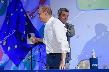 Stock Photo of Nicola Zingaretti and Andrea Orlando during the National Assembly of the Democratic Party.