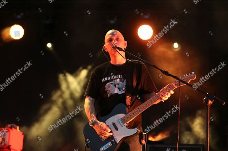 Singer and guitarist Stuart Braithwaite of the Scottish band Mogwai performs during the Mad Cool 2019 Festival in Madrid, Spain, 13 July 2019. The fourth edition of the festival runs from 11 until 13 July.