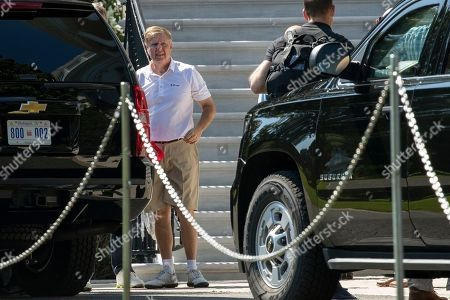 Lindsey Graham, Donald Trump. Sen. Lindsey Graham R-S.C., arrives at the White House after playing a round of golf with President Donald Trump and fellow Sens. Rand Paul, R-Ky. and David Perdue R-Ga., in Washington