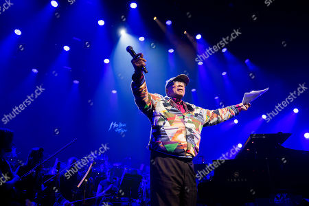 U.S. music producer Quincy Jones reacts during the Quincy Jones soundtrack of the 80's celebration evening at the Auditorium Stravinski during the 53rd Montreux Jazz Festival (MJF), in Montreux, Switzerland, . The MJF runs from June 28 to July 13