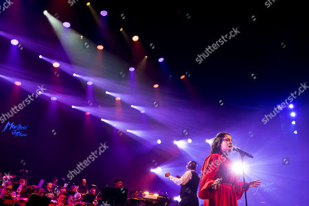 U.S. singer Lauren Jauregui performs during the Quincy Jones soundtrack of the 80's celebration evening at the Auditorium Stravinski during the 53rd Montreux Jazz Festival (MJF), in Montreux, Switzerland, . The MJF runs from June 28 to July 13
