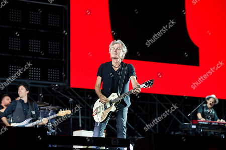 Luciano Ligabue in concert in Rome for the last leg of his Start Tour 2019. At the Olympic Stadium in Rome the singer presents the songs from his latest album Start along with those that have extolled his thirty-year career.