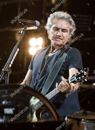 Stock Picture of Luciano Ligabue in concert in Rome for the last leg of his Start Tour 2019. At the Olympic Stadium in Rome the singer presents the songs from his latest album Start along with those that have extolled his thirty-year career.