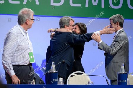Stock Picture of Luigi Zanda, David Sassoli, Paola De Micheli and Andrea Orlando