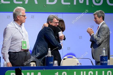 Stock Image of Luigi Zanda, David Sassoli, Paola De Micheli and Andrea Orlando