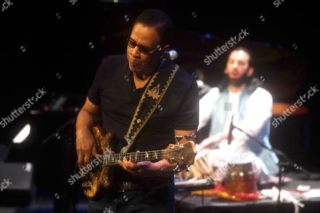 Stanley Clarke during his performance at the Gran Teatro de Cordoba with The Stanley Clarke Band as part of the 39th Festival de la Guitarra de Cordoba in Cordoba, Spain, 13 July 2019.