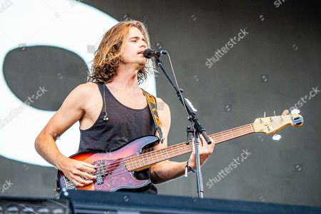 Dylan Kongos of the Kongos performs during the Festival d'ete de Quebec, in Quebec City, Canada