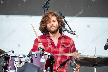 Jesse Kongos of the Kongos performs during the Festival d'ete de Quebec, in Quebec City, Canada
