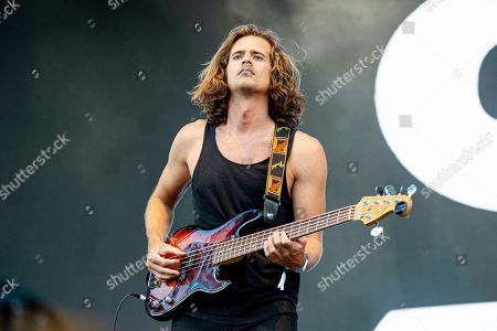 Stock Picture of Dylan Kongos of the Kongos performs during the Festival d'ete de Quebec, in Quebec City, Canada