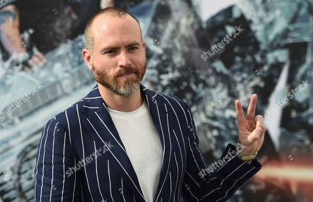 "Erik Hayser arrives at the Los Angeles premiere of ""Fast & Furious Presents: Hobbs & Shaw"", at the Dolby Theatre"