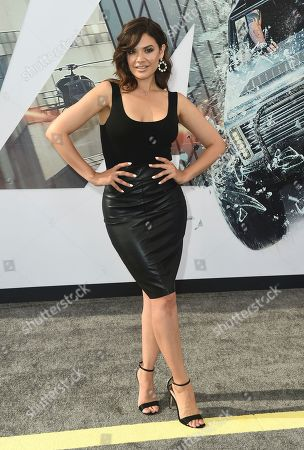 "Angelica Celaya arrives at the Los Angeles premiere of ""Fast & Furious Presents: Hobbs & Shaw"", at the Dolby Theatre"