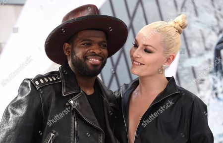 "Stock Image of Lindsey Vonn, P. K. Subban. Lindsey Vonn and P. K. Subban arrive at the Los Angeles premiere of ""Fast & Furious Presents: Hobbs & Shaw"", at the Dolby Theatre"