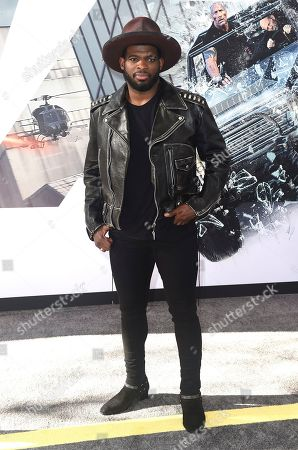 "P. K. Subban arrives at the Los Angeles premiere of ""Fast & Furious Presents: Hobbs & Shaw"", at the Dolby Theatre"