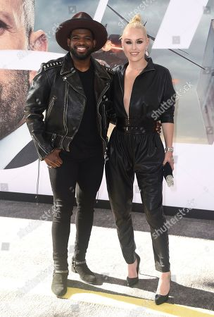 "Stock Picture of Lindsey Vonn, P. K. Subban. Lindsey Vonn and P. K. Subban arrive at the Los Angeles premiere of ""Fast & Furious Presents: Hobbs & Shaw"", at the Dolby Theatre"